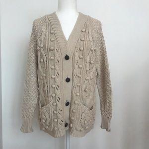 Moth Off white grandpa cardigan sweater